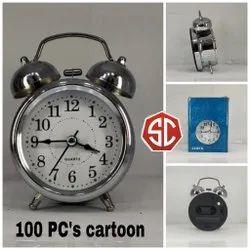 Steel Alarm Bell Clock