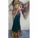Pure Cotton Kalamkari Print Saree