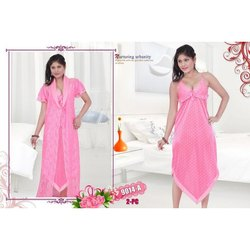 Ladies Two Piece Netted Nighty