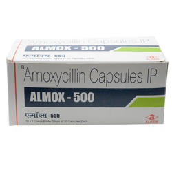 Almox Amoxycillin Capsules IP, Packaging Type: Box