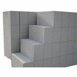 Solid Autoclaved Aerated Concrete AAC Block, Thickness: 4
