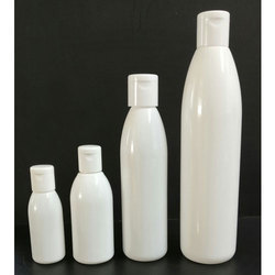 Conical Round Opaque White Cosmetic Bottles