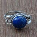 Lapis Lazuli Fine Gemstone Handmade 925 Sterling Silver Ring