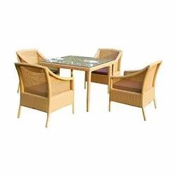 Universal Furniture Bronze Table with 4 Sofa Chairs