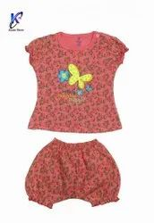 GIRLS PRINTED TOP WITH BLOOMER