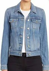 Unisex Full Sleeves Blue Denim jacket