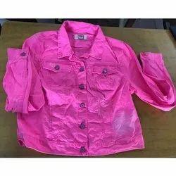 Full Sleeve Casual Jackets Colored Denim Jacket