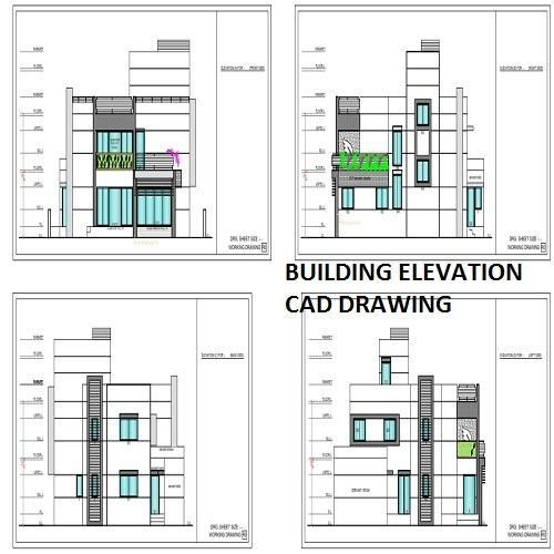 Building Elevation CAD Drawing Service In Satellite