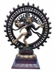 Nirmala Handicrafts Brass Nataraja Lord Shiva Statue Antique Plain Work Indian God Idol Sculpture