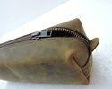 Vintage Leather Square Pencil Case