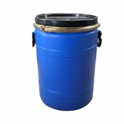 Blue 1 38 L Cylindrical HDPE Open Top Drum, For Packaging Industry
