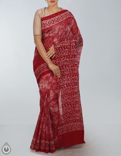 f45a4937920d2d Batik Prints Party Wear And Wedding Wear Pure Kota Batik Cotton Saree