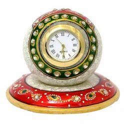 Multicolor Analog Marble Stylish Clock, Shape: Round