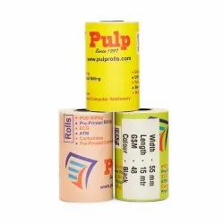 PULP Bus Ticketing Paper Rolls Width: 55 mm (2 inch). Black. Length: 15, 25 meter