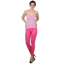 Ladies Pink Casual Leggings