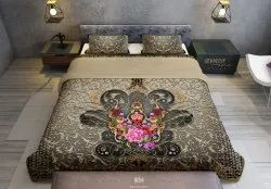 Baroque Printed Comforter Duvet Cover Devarshy Home, Size: Upto 108 X 108 Inches