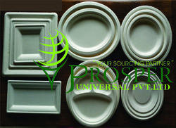 Biodegradable Sugarcane Ribbed & Square Plates