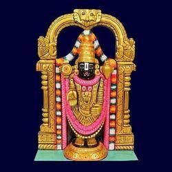 Painted Marble Tirupati Statue