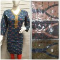Full Sleeves Cotton Printed Kurti