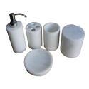 Round New White Marble Bath Set, Packaging Type: Safe Box Packaging, 5