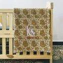 Reversible Handmade Block Print Kantha Work Baby Kids Blanket