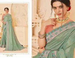 Dot Exports Silk Stylish Border Indian Sarees