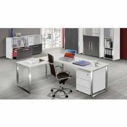 L Shape Steel Office Table