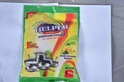 Helper Dishwash Powder, Packaging Size: 400 Gm, Packaging Type: Packet