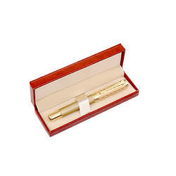 Gold Silver Black &white Metal Stationary Ball Pen With leather Box, for Promotional