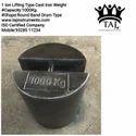 1 Ton Round Shape Cast Iron Weight (Round Beral Drum Shape)