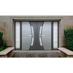 Silver Aluminium Doors, For Houses & Office