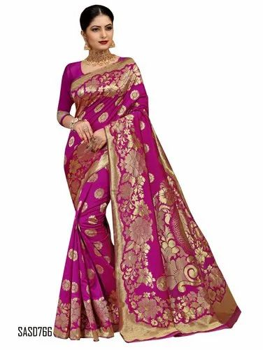 d5ab2442c68 Wedding Wear Art Silk Jacquard Pink Color Saree