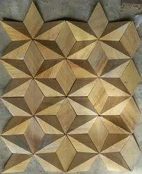 Wood Plain 3D Wall Cladding, Thickness: 10-20mm