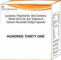 Lycopene, Polyphenols, Beta Carotene, Wheat Germ Oil, Zinc Sulphate & Calcium Ascorbate