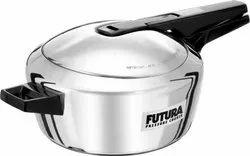 Silver Hawkins Futura Stainless Steel Pressure Cooker, Capacity: 4 Liters