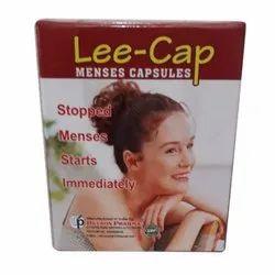 Lee-Cap Ayurvedic Menses Capsule, Grade Standard: Medicine Grade, Packaging Type: Box