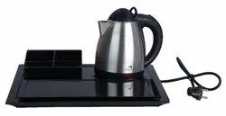 SS Electric Kettle With Melamine Tray