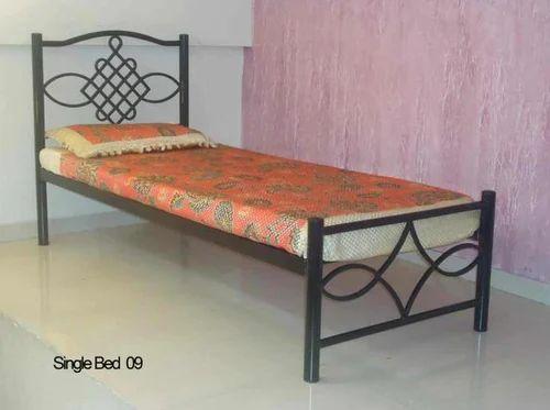 Wrought Iron Black RT Single Bed