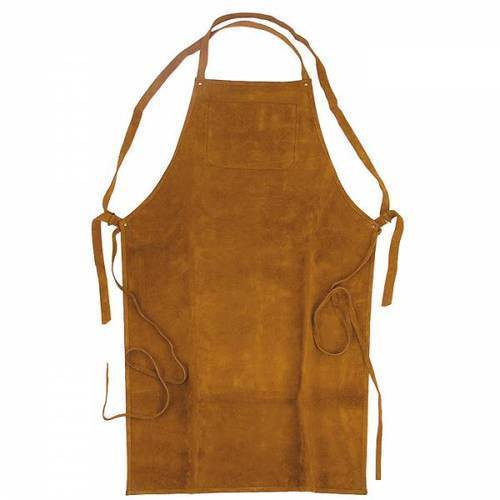 Brown Plain Safety Leather Apron