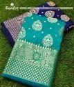 Silk Zari Kanjeewaram Ladies Sarees, 6 M (with Blouse Piece)
