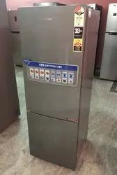 Silver Haier HRB-2763BS 256L 3 Star Double Door Refrigerator