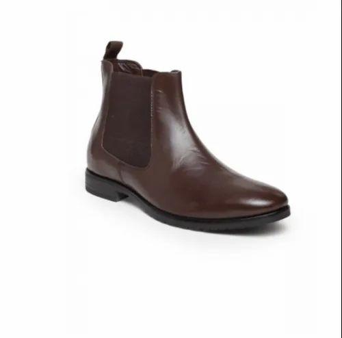 2fa241d9b47bb1 Black Casual Teakwood Leathers Men  s Brown Chelsea Boots