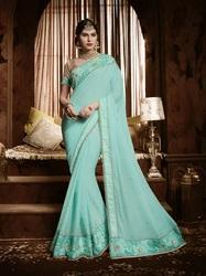 Royal Cyan Designer Saree