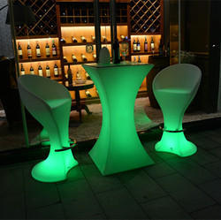 LED Bar Table And Chair
