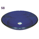 Blue Round Glass Wash Basin