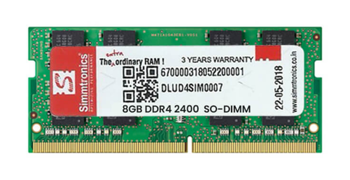 Simmtronics 8 GB DDR4 Laptop RAM 2400 MHz
