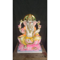 Seating Marble Ganesh Statue