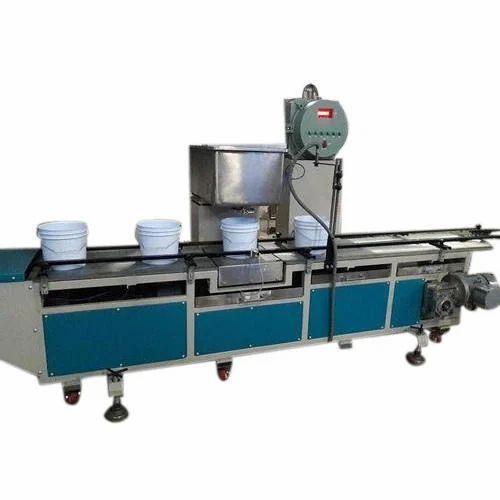 Paint Filling Machine at Rs 275000/unit | Liquid Bottle Packing Machine,  Liquid Fillers, Liquid Filler Machine, तरल भरने की मशीन - Priyanshi  Fabrication & Engineers, Ahmedabad | ID: 11839218791