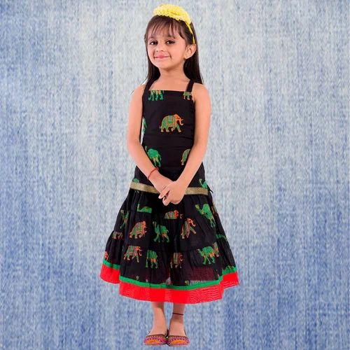 14c4f012b1 Cotton Festive Wear Decot Paradise Kids Animal Print Lehenga Choli ...
