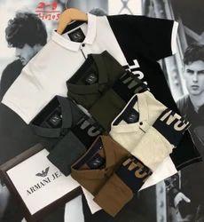 Hosiery Polo Neck Designer Collar T-shirt wholesale only, Size: Medium
